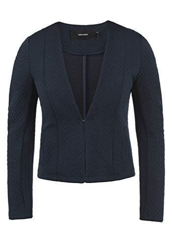 VERO MODA Bridget Damen Blazer Kurzblazer Jacke Mit V-Ausschnitt, Größe:M, Farbe:Navy Blazer