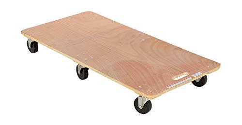 Vestil HDOS-2448-6SW Hardwood Dolly, Solid Deck, 1200 lb. Capacity, 23-1/2