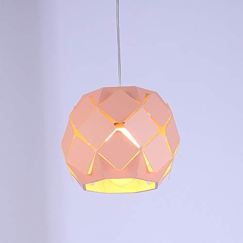 WENL Moderne Macaron fuball kronleuchter einzigen Kopf hohl Eisen Decke pendelleuchte für Restaurant bar Cafe Dekoration hngen Beleuchtung (ohne glühbirne)