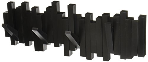 Umbra 318211-040 Perchero decorativo de pared Sticks Negro