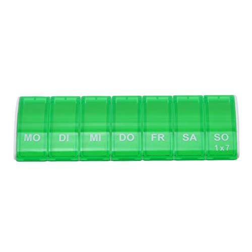 VWH 7 Jours Distributeur de Stockage de Comprimés pour Cas de Comprimés avec Médicament (Vert)