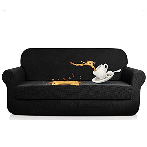 N\C XIKUO Fundas elásticas de 2 Piezas para sofá de Dos Piezas, repelentes al Agua, para Perros, Gatos, a Prueba de Mascotas, Fundas para sofás, Protectores
