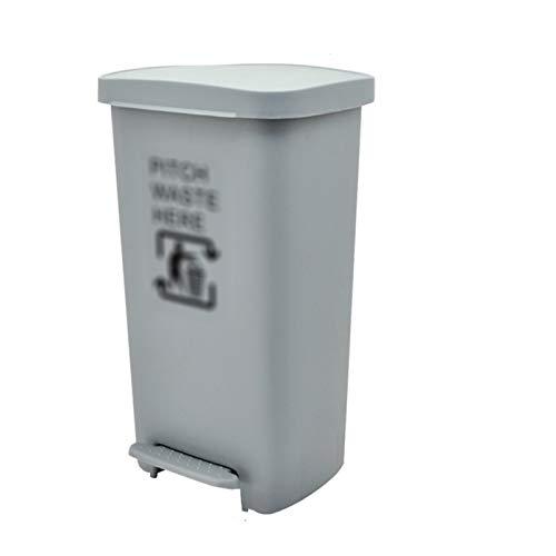 CSQ- Contenedor De Plástico Para Limpieza De Basura De 25-50L, Bote De Basura Tipo Pedal Gris, Hogar, Parque, Fábrica, Comunidad, Calle, Negocios, Contenedor De Reciclaje De Basur(Color:gris,Size:50L)