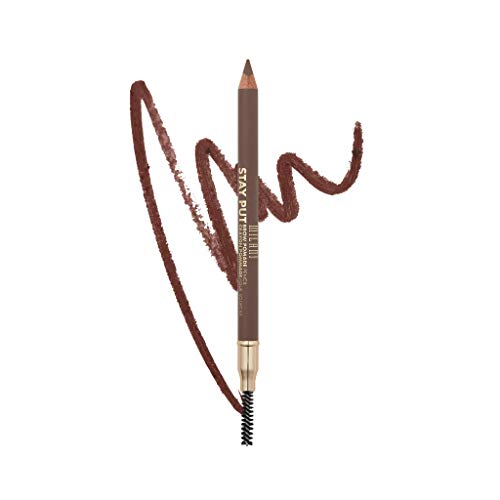 Milani Stay Put Brow Pomade Pencil - Medium Brown (0.03 Ounce) Vegan, Cruelty-Free Eyebrow Pencil to Fill, Shape & Define Brows