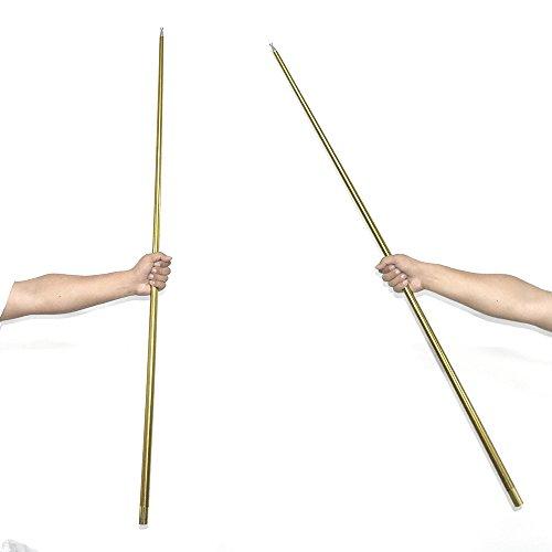 【手品グッズ】 マジックアピアリングケーン 金属製 ステッキが 出現  手品ステッキ 伸び飛び出るステッキ (150cm ゴールド)