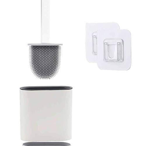 Escobilla WC, Escobillas WC de Baño de Silicona con Soporte