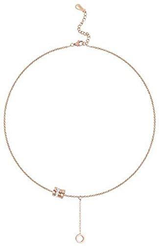 WYDSFWL Collar de tránsito Collar Colgante Collar de Cadena de Hueso de Cuello Femenino