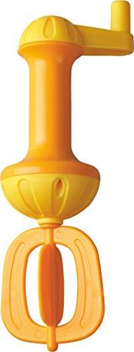 HABA 301294 - Badeschaum-Schläger, gelb | Badespielzeug für mehr Schaum in der Badewanne | Einfach bedienbarer Schaumschläger mit Kurbel zum Drehen | Badewannenspielzeug ab 3 Jahren
