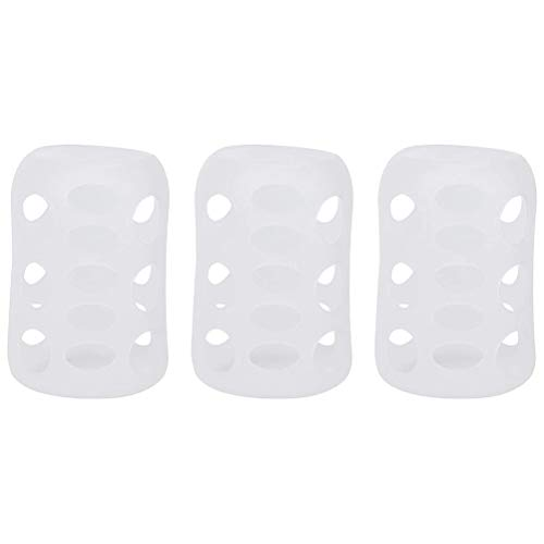 spier 3Pcs Baby Feeding Bottle Cover, Silicone Milk Bottle Protective Case Anti-drop Sleeve for Home Travel