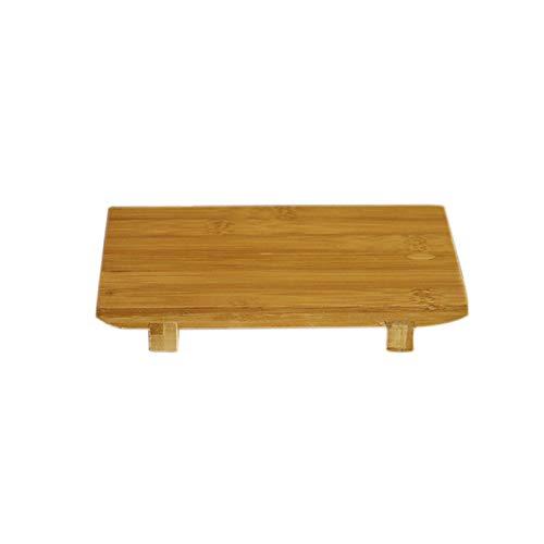 QIEZI Platos de Sushi de bambú para Servir Geta - Bandeja de Corte de Tabla de Sushi de bambú de Estilo japonés