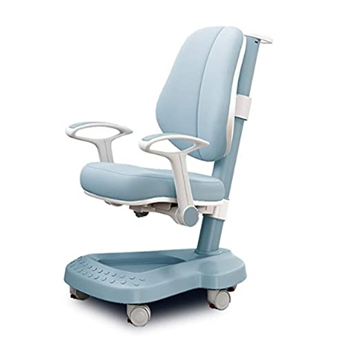 WLP-WF Kid Desk Chair Kinder 's Study Chair Verstellbarer Hubhocker Rückenlehne Student Chair Home Desk Chair Schreibstuhl Korrigieren Der Sitzhaltung (Farbe: Pink, Größe: 51-82X63X38-60Cm),Blau,51-8