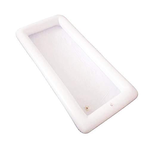 Doolland Aufblasbare Biertisch Aufblasbare Getränkehalter Biertabelle Float Luftmatratze Eiskübel Salat Bar Tablett Esstisch für Sommer Schwimmbad Wasser Party Essen Trinken