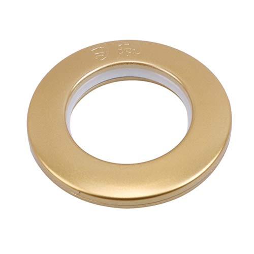 LWANFEI Vorhang Öse Ringe Runde Vorhang Jalousien Schnalle Punsch Ringe Dekoration Vorhang Zubehör, Gold