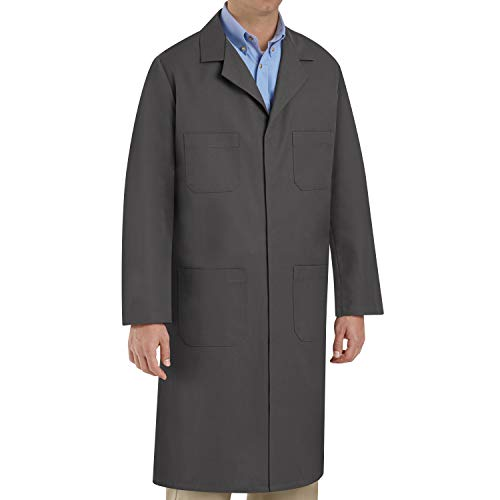 Red Kap Men's Shop Coat, Charcoal, 44