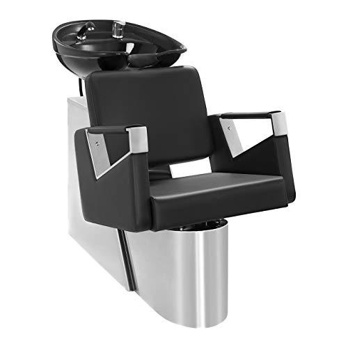 Physa - Friseurwaschbecken SORRENT - schwarz - verstellbare Rückenlehne