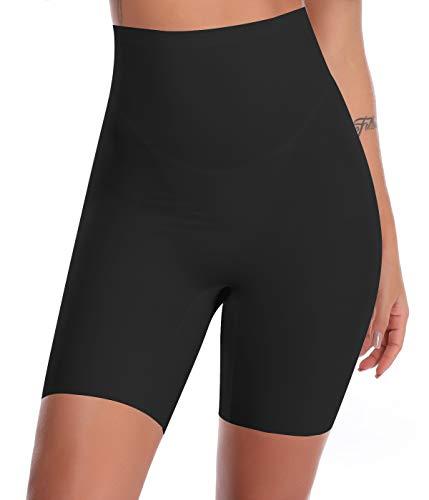 SLIMBELLE Donna Modellante Vita Alta Guaina Intimo Shapewear Mutande Contenitiva Slip Contenitive Pancia Pancera da Dimagrante Shaper Up Snellente-Black-XL