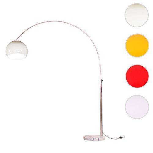 Mendler Reality|Trio Bogenlampe Lounge Deal, Höhe: 2,06m, Schirm: 40cm ~ braun-durchsichtig