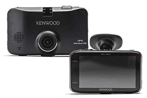 Kenwood DRV-830 Wide Quad-HD-Dashcam mit GPS und Fahrassistenzsystem, 3, 7 MP Schwarz