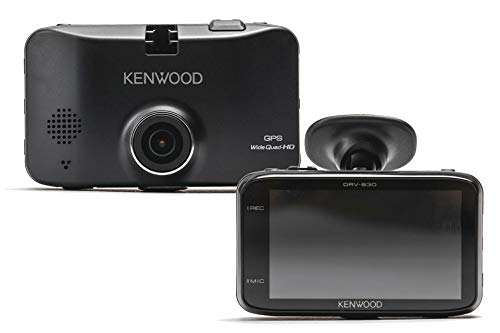 Kenwood DRV-830 Wide Quad HD Dash Cam with GPS and Driving Assistance System 3.7MP Black Logo