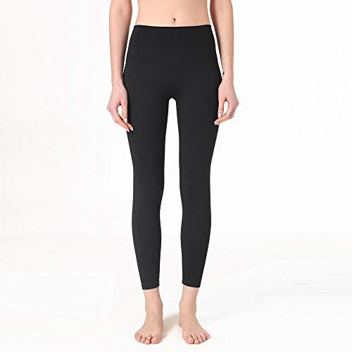 B/H Patchwork Moda Pantalones de Yoga,Fitness Sport Leggings Gym High WAIS Pantalones de Yoga Ropa Deportiva elástica a Prueba de Sentadillas-Black_XXL