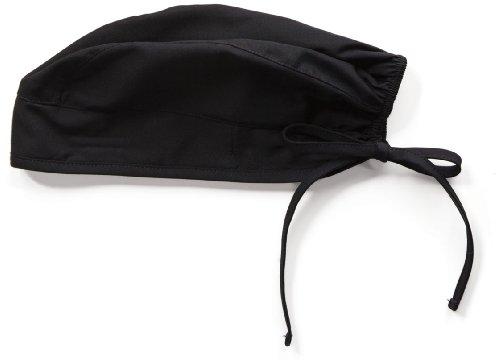 Original OP-Hauben von US-Marke Cherokee Uniforms mit eingenähten Frotteeschweißband - Premium Qualität (Schwarz)