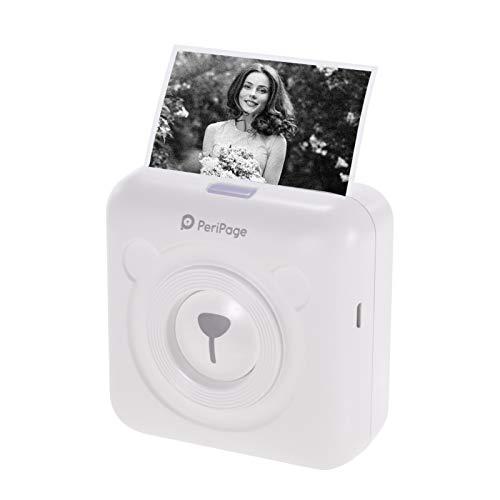 Aibecy PeriPage mini stampante termica per foto da cellulare BT senza fili Immagine Photo Label Memo Receipt Stampante di carta con cavo USB Supporto per Android iOS Smartphone Windows GOOJPRT