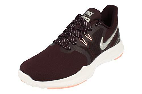 Nike Women's in-Season TR 8 Training Shoe Burgundy Ash/Metallic Silver/Pink Tint Size 8 M US