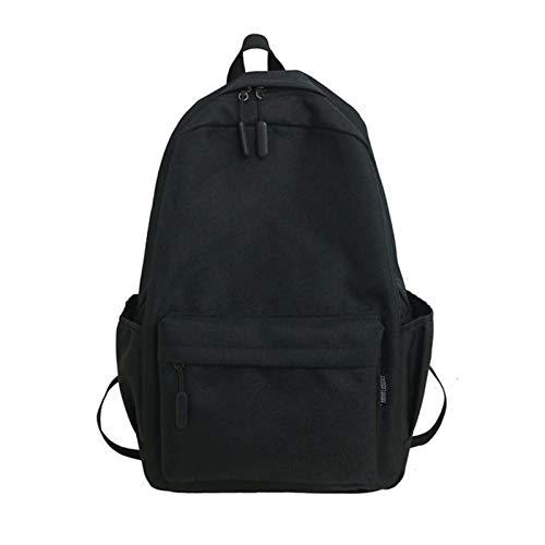 GO-AHEAD Mochila, mochila para mujer, mochila de moda, mochila para adolescentes, bolsa de viaje para colegio, color negro, tamaño: 29 cm x 12 cm x 43 cm