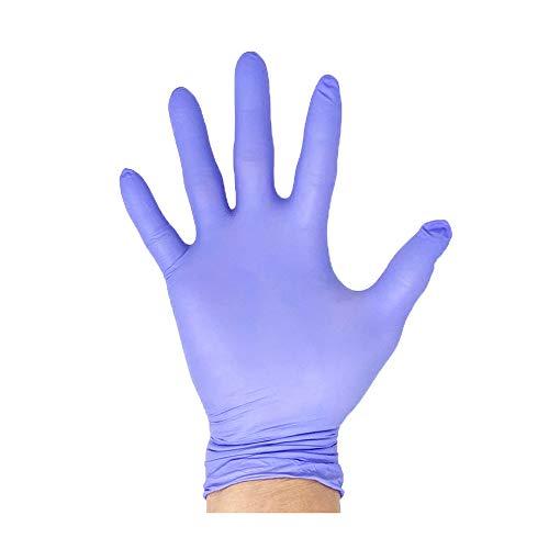 Innovative Haus Medium Nitrile Gloves,Powder Free,Latex Free Gloves,Disposable Gloves,Gloves Disposable,Non Sterile,Food Gloves,Textured,Indigo Color,Box of 100 NGMD
