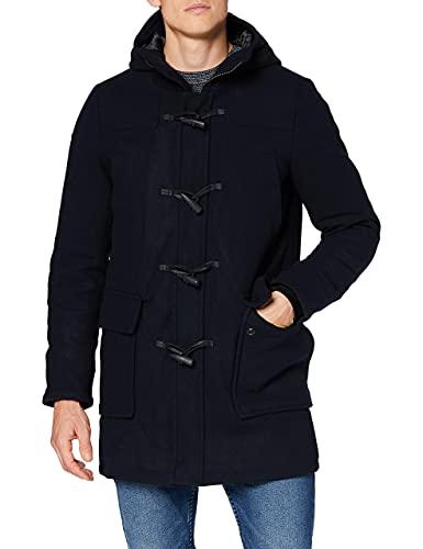 Superdry Wool Duffle Coat Abrigo de Lana, Azul Marino Oscuro, XL para Hombre