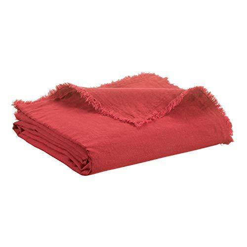 Vivaraise - Couverture canapé - Plaid canapé - Plaid - Couverture Polaire - Couvre lit - Couverture Plaid – Couverture Chaude – Plaid Extra-Doux - Multifonctions - 140 x 200 - Garance Rouge - Zeff