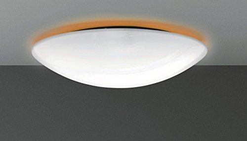 Plafoniera lampada da soffitto parete applique 2xE27 Ø46cm in metacrilato con retroilluminazione di colore arancione - 100% Made in Italy