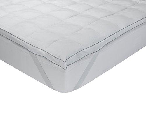 Classic Blanc - Surmatelas ultra moelleux en duvet d'oie, 100% coton, épaisseur 9cm. 135x190cm-Lit 135