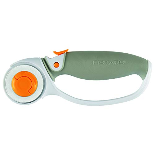 Fiskars Classic (45mm) Comfort Loop Rotary Cutter, 1, steel and orange