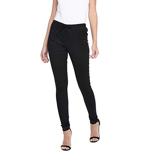 Globus Women's Relaxed Fit Pants (S19STRETCHCHURI-BLACK-S_Black_Small)