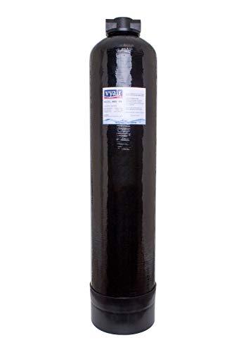 Vyair 0835 Hochdruck-Gefäß aus verstärktem Kunstharz, zur Wasserenttionisierung, schwarz (25 Liter), DM 6,35 mm Armaturen, gefüllt mit hochwertigem Mischbett MB-151 Exchange Virgin DI Resin