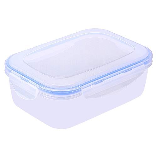 gousheng Lebensmittelbox Lebensmittelaufbewahrungsbox KüChenaufbewahrungsbox Frischhaltebox Umweltfreundliche Plastikbox Quadratische Mikrowellen-Brotdose Bento-Box