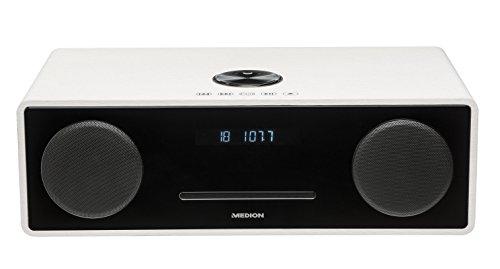 MEDION X64777 All-in-One Micro-Audio-System (Bluetooth, USB-Anschluss, 2x 25 Watt RMS Ausgangsleistung, UKW mit PLL-Tuner) weiß