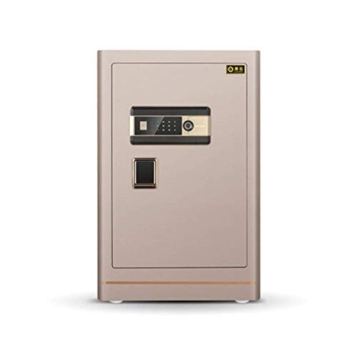 NILINLEI Office Safe, Insurance Approved, 22 mm Motorised Locking Bolts, LCD Screen, 38 Litre Capacity All-Steel Anti-Theft Safe, Home Large Space Semiconductor Fingerprint Password Storage Box