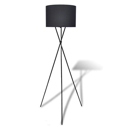 Festnight Stehlampe Stehleuchte Leuchte Standleuchte mit Lampenschirm für Wohnzimmer Schlafzimmer - Schwarz