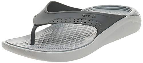 crocs Unisex Literide Flip U Dusch-& Badeschuhe, Schwarz (Fumée/Blanc Perle 06J), 45/46 EU
