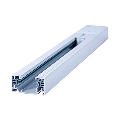 Lampenlux 1-Phasen Stromschiene Aufbauschiene und Zubehör (Weiß, 200cm)