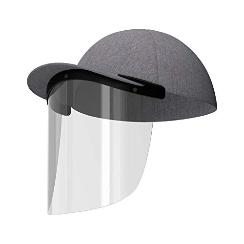 CapLens Full Face Shield Cap Accessory, Anti-fog, Adjustable, Reusable, Slip onto your Existing Cap