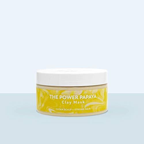 Mermaid + Me The Power Papaya Clay Mask (200 ml) – Haarkur für weiches Haar – Haarmaske mit Sheabutter, Jojobaöl und Tonerde – Vegane Haarpflege – Power Papaya