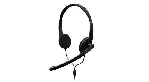 Microsoft LifeChat LX-1000 Binaural Kopfband Schwarz Headset - Headsets (Call Center/Büro, Binaural, Kopfband, Schwarz, Verkabelt, 1,8 m)