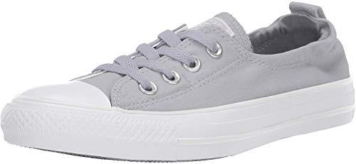 Converse Damen Women's Chuck Taylor All Star Shoreline Linen Slip On Sneaker Turnschuh, Wolf Grey/Pure Platin/White, 41 EU