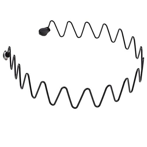 FRCOLOR 5 Piezas de Diadema Metálica Diadema Unisex con Aro para El Cabello Accesorios Deportivos para El Cabello para El Ejercicio en El Hogar Al Aire Libre