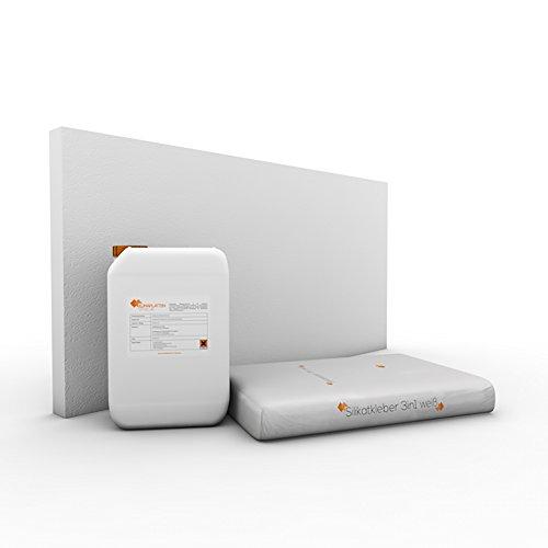 Klimaplatten Renovierpaket 50mm Plus2 ( Kalziumsilikatplatten 50mm + Silikatgrundierung + Silikatkleber 3in1 ) (72 m²)
