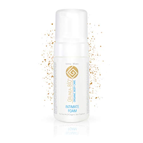 GiiLinea-Bio Intimate Foam | Intim Reinigungsschaum für Sie und Ihn | Auch als Duschschaum für sensible Haut geeignet | mit Aloe Vera & Granatapfel für natürliche Frische | 100ml