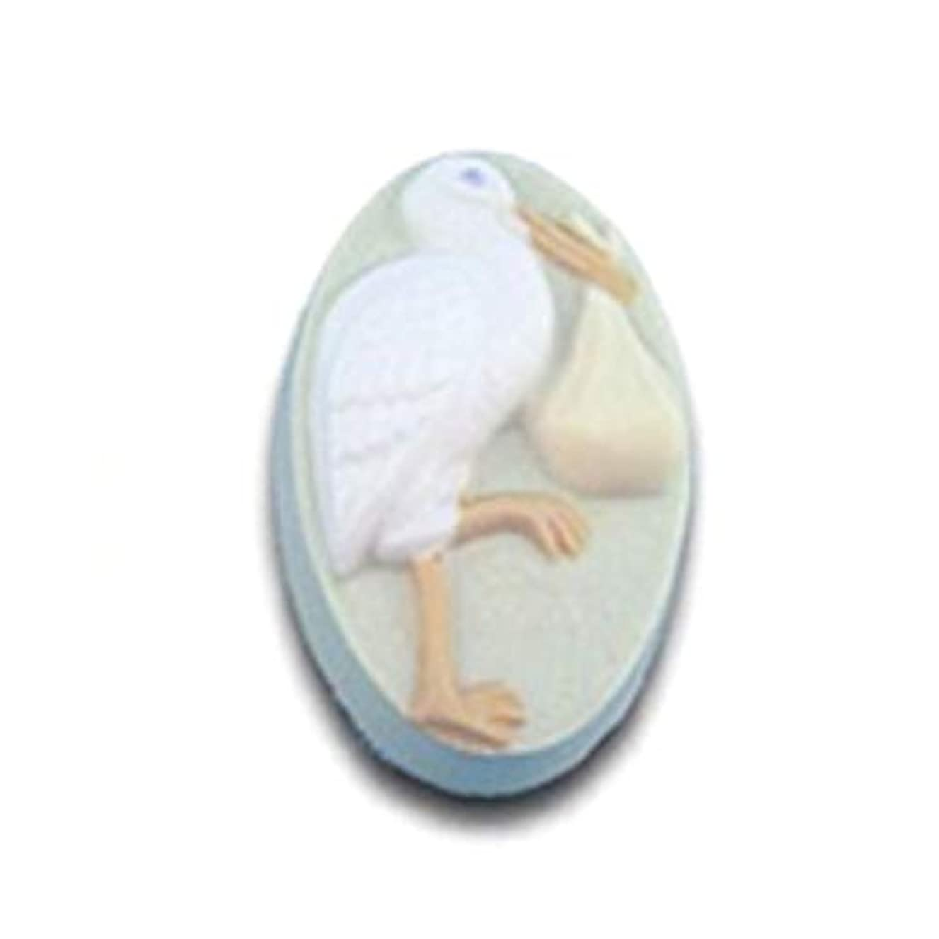 Stork with Bundle Soap Mold by Milky Way - Clear PVC - Not Silicone - MW511